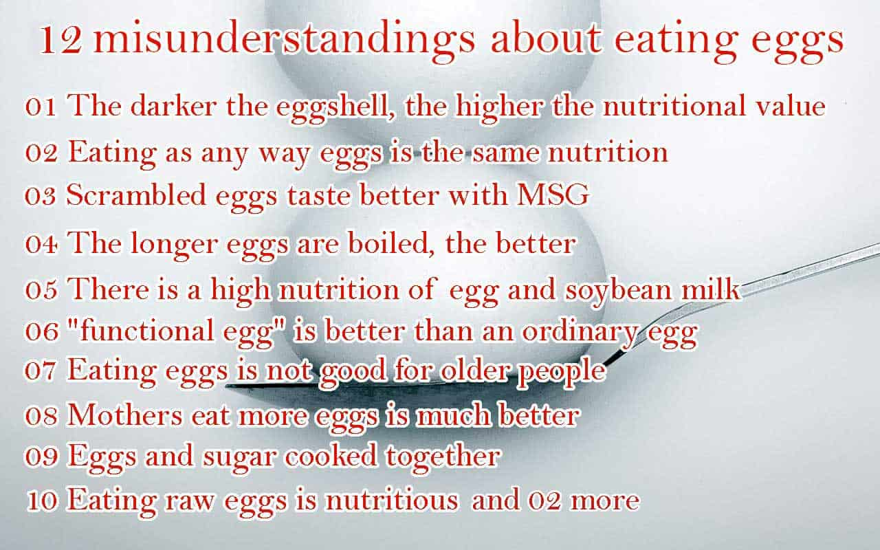 Here are 12 misleading facts about eating eggs that you need to consider
