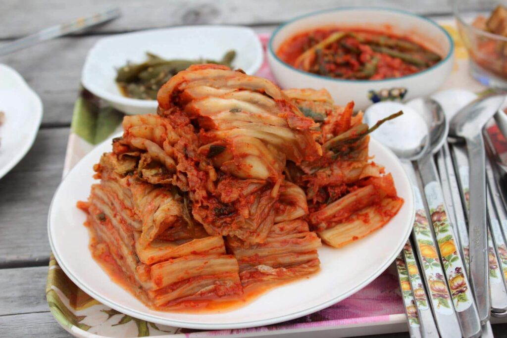 In cooking, white vinegar is used to make kimchi, especially in Western foods