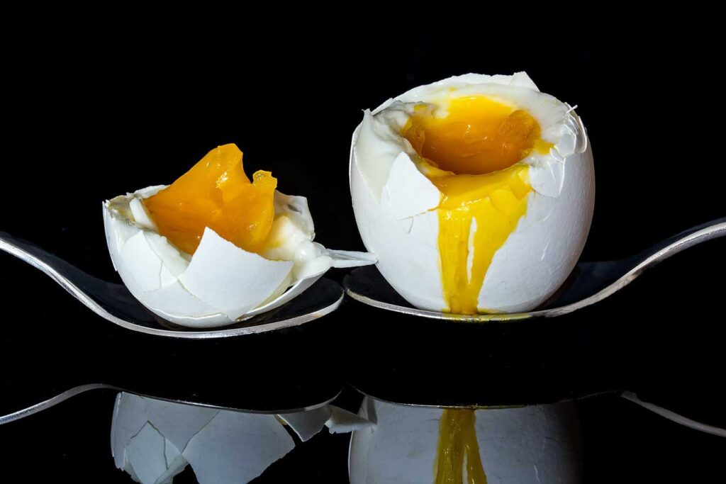 There are several standards for boil eggs that are truly cooked.
