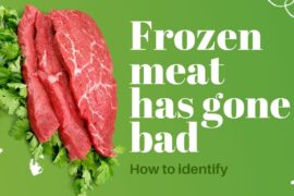 The best way to find if frozen meat has gone bad